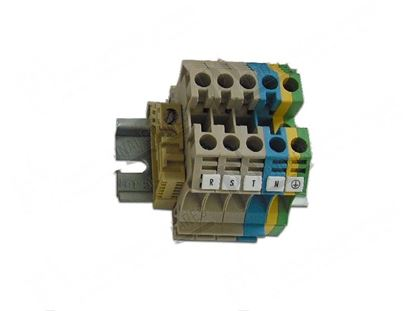 Picture of 5-poles terminal board cable sq.mm 6 for Zanussi, Electrolux Part# 58875