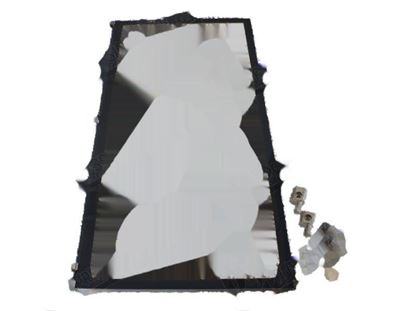 Picture of Complete glass with hinge (Special packaging) for Convotherm Part# 2518485