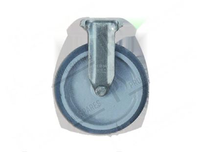 Picture of Castor on flange  125x30 mm - inox for Convotherm Part# 6014051