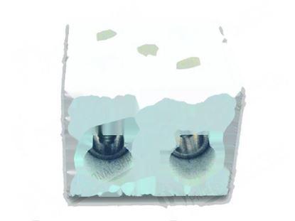 Picture of 2-pole steatite terminal board for Giorik Part# 6050649