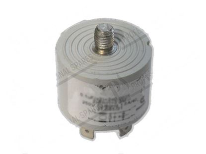 Picture of RFI filter 250V 50/60Hz 1.6A/40°C 38x28mm for Cuppone Part# 91310360