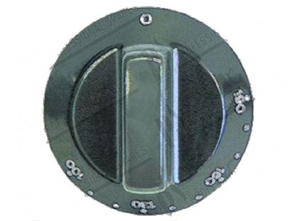 Picture of Black knob  60 mm for Tecnoinox Part# 00280, RC00280000