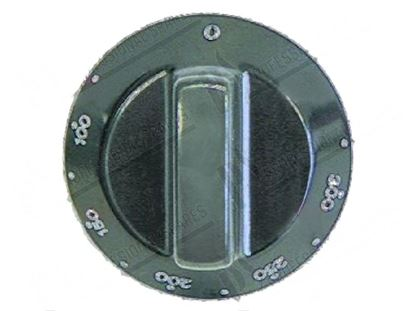 Picture of Black knob  60 mm - 0 ·300°C for Tecnoinox Part# 00284, RC00284000