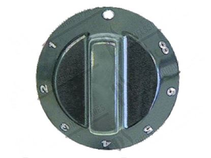 Picture of Black knob  60 mm for Tecnoinox Part# 00287, RC00287000
