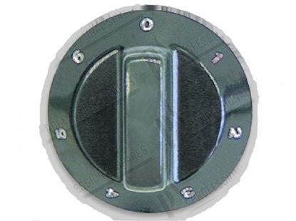 Picture of Black knob  60 mm - 0 ·9 for Tecnoinox Part# 00289, RC00289000