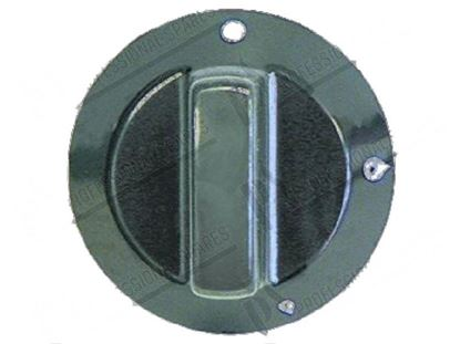 Picture of Black knob  60 mm for Tecnoinox Part# 00401, RC00401000