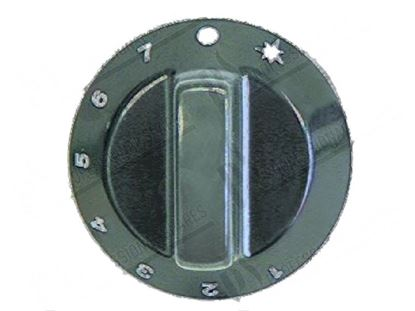 Picture of Black knob  60 mm for Tecnoinox Part# 00448, RC00448000