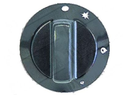 Picture of Black knob  60 mm for Tecnoinox Part# 00538, RC00538000