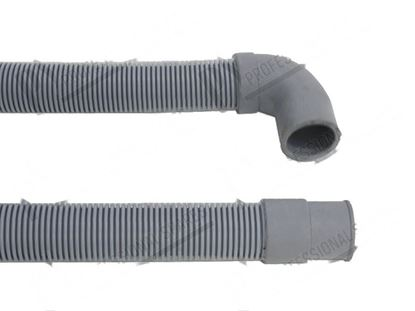 Picture of Drain pipe PPE  19 mm 90°+  22 mm 180° L=2000 mm for Scotsman Part# CM19810114