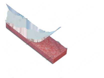 Picture of Silicone gasket with biadhesive tape L=310x25x6,5 mm for Minipack Part# FM350200 KR991030