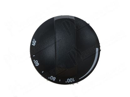 Picture of Black knob  69 mm for Tecnoinox Part# RC01564000